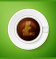 Cup of coffee with litecoin symbol vector image