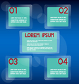 Glass background infographics vector image