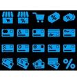 Shopping and bank card icon set vector image