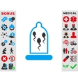 Sperm In Condom Icon vector image