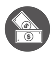 bill dollar money icon vector image