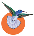 Hummingbird tattoo watercolor painting vector