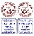 Czecholovakia passport stamps vector image