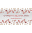 Floral abstract template for the inscription vector image