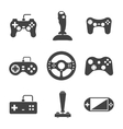 Joystick icons set vector image