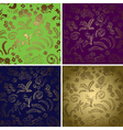 natural backgrounds with gradient - set vector image