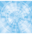 light blue abstract background with map and rays vector image