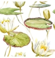 Watercolor lotus pattern vector image