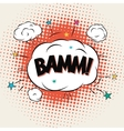 Bamm Comic Book Bubble Text vector image
