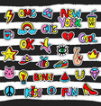 fashionable patch badges set vector image