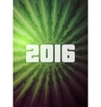 Green abstract Christmas greeting card design vector image