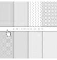 Light pixel seamless patterns vector image