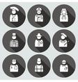 People profession avatar icon set Judge artist vector image