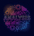 analysis colorful vector image
