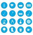 16 garden plain icon blue vector image