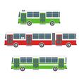 bus set vector image vector image