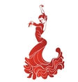 Young passionate woman dancing flamenco vector image