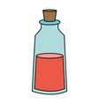 color image cartoon small glass bottle essential vector image