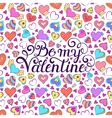 Colorful Valentines card vector image