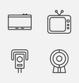 device icons set collection of gadget cctv vector image