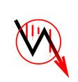 icon arrow down move vector image