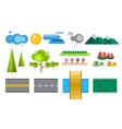 Landscape constructor icons set vector image