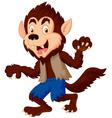 Smiling cartoon werewolf vector image