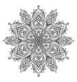 coloring mandala vector image vector image