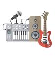 Music equipment flat style vector image
