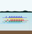 Competitions in rowing vector image