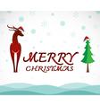 Deer merry christmas vector image vector image