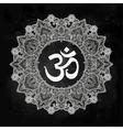 Lord Ganesha Om mandala symbol vector image