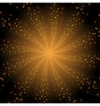 Abstract golden stars whirlpool background vector image