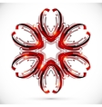 Abstract technology dark red flower vector image