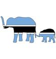 Botswana elephants vector image