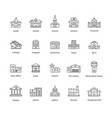 collection of touristic icons vector image