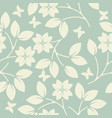 cute endless pattern with flowers leaves and vector image