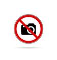 no camera icon vector image