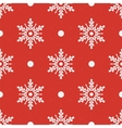 Winter seamless pattern with crystallic snowflakes vector image