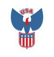 USA eagle Shield Birds of prey in colors of vector image