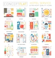 Infographics mini concept Hotel service icons for vector image vector image