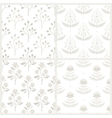 Set of seamless patterns with Australian flora vector image vector image