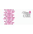 Breast cancer awareness ribbon women figures vector image vector image