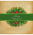 Merry Christmas Old Card vector image vector image