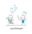 psychologist conducts a patient tells notes vector image