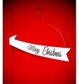 Christmas card with bauble vector image vector image