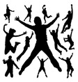 jumping people vector image