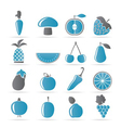 fruits and vegetable icons vector image vector image