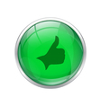 Green right button vector image