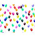 seamless colourful balloons with glare vector image vector image
